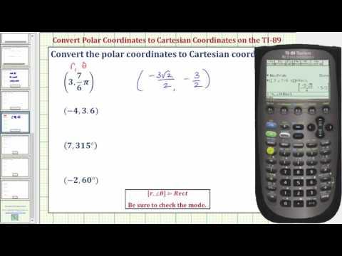 Convert Polar Coordinates to Cartesian Coordinates on the TI-89