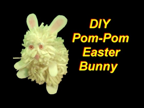 How to Make a Pom Pom Easter Bunny