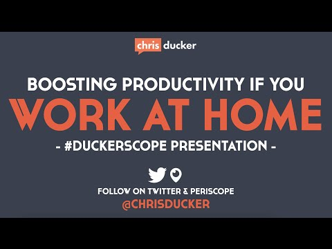 How to Boost Your Productivity While Working at Home