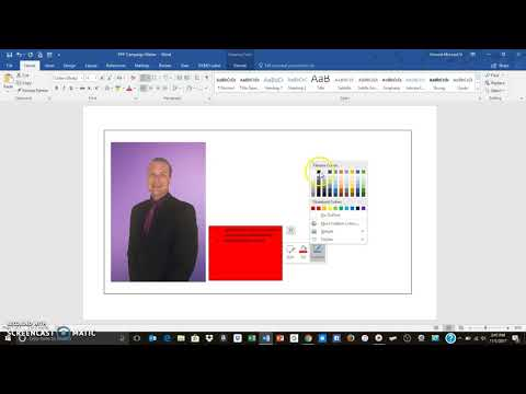 How to create a campaign flyer in Word