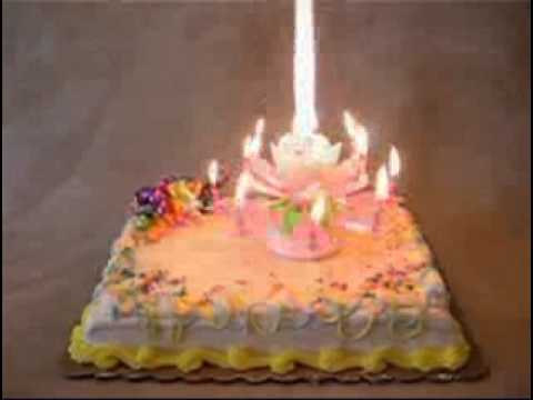 Musical Flower Happy Birthday Candle