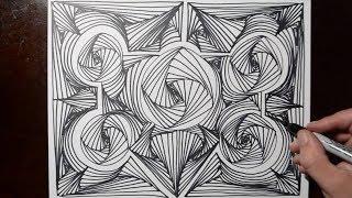 Random Doodle Sketch Line Pattern