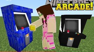 Minecraft: ARCADE MACHINES!!! (PLAY SNAKE & TETRIS IN MINECRAFT!) Mod Showcase