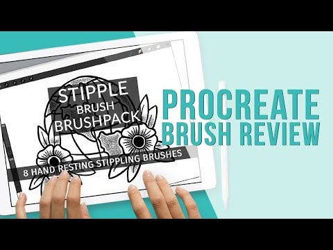 Procreate Brush Review | Stipple Brush Pack | Holly Pixels