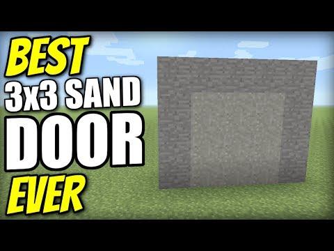 Minecraft PS4 - 3x3 SAND DOOR [ BEST EVER ] Redstone Tutorial - PE / Xbox / PS3 / Wii U