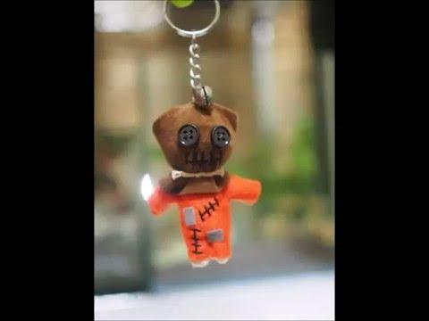 Handmade string doll key chains