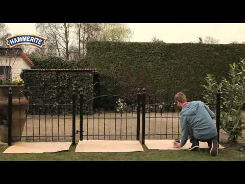 Hammerite Direct to Rust - Painting rusty fence