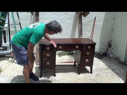 Making an antique desk look BRAND NEW