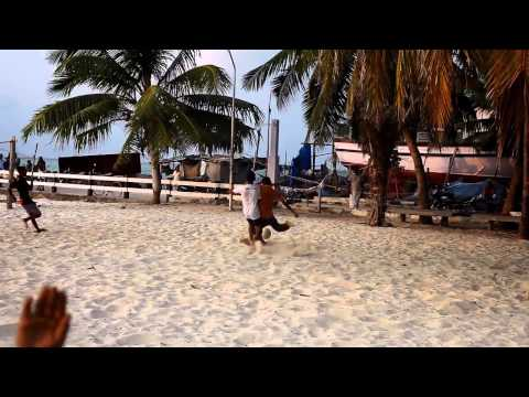 Boys playing football on Agatti Island - Lakshadweep