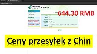 Ceny przesyłek z Chin