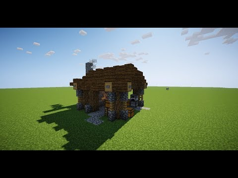 Minecraft Medieval Tutorial: Small Blacksmith.