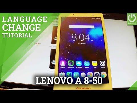How to Change Language in LENOVO A8-50 - Language Settings