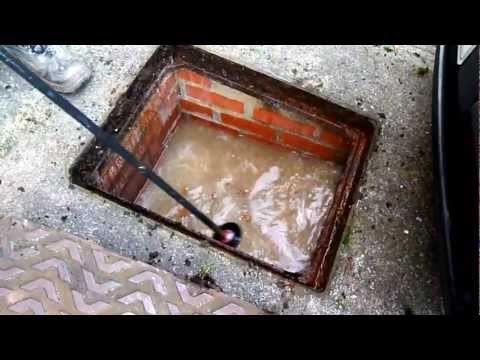 How to clear a blocked pan.Or drain.