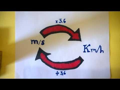Como Converter/transformar m/s em km/h. Vídeo Aula de Física 10