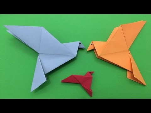 How to make a simple origami pigeon paper folding tutorial| pigeon origami step by step