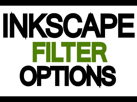 Inkscape Tutorial - Image Filter Options