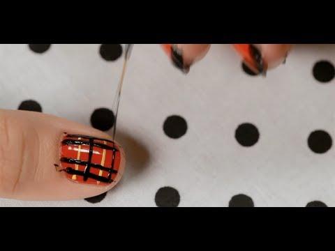 How to Create a Plaid Design | Nail Art