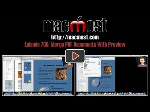 Merge PDF Documents With Preview (MacMost Now 768)