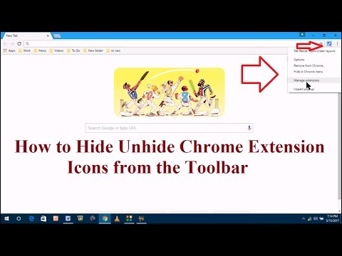 How to Hide Unhide Chrome Extension Icons from the Toolbar