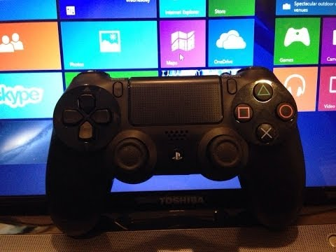 How-To connect a PS4 controller to a Windows 8 PC wirelessly