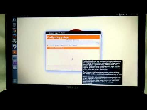 Configuring grub update on Ubuntu