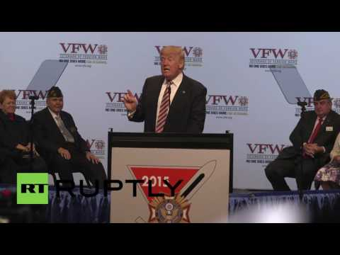 USA: Trump promises to create White House hotline for veterans