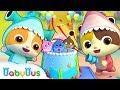 아기 고양이 생일파티| 상어가족 | 율동|베이비버스 인기동요|BabyBus