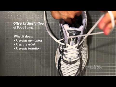 Athletic Shoe Lacing Tutorial: Lock Lacing - Offset Lacing - Increasing Forefoot Width Lacing