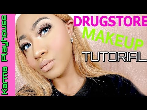 DRUGSTORE FULL FACE MAKEUP TUTORIAL in 10 MINUTES FOR THAT QUICK EVERYDAY LOOK Karma Playhouse