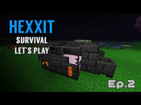 Minecraft: Hexxit Survival Let's Play Ep.2 - Smeltery