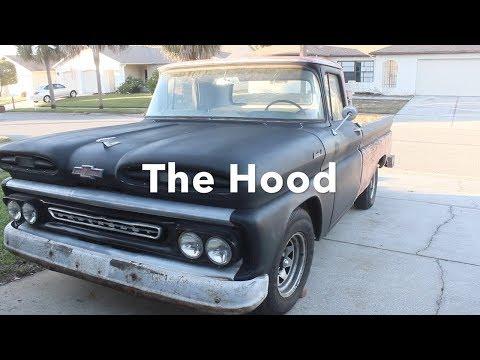 4. Hood - Dent removal, body filler & epoxy primer| 1961 Chevy Apache Restoration