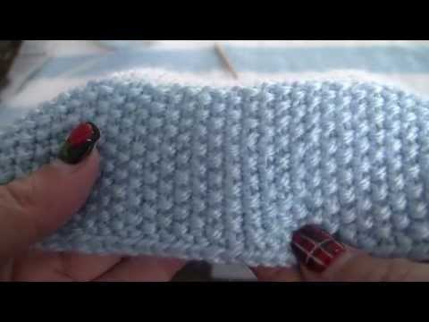 Seed Stitch Tutorial, Striped Baby Blanket Pattern