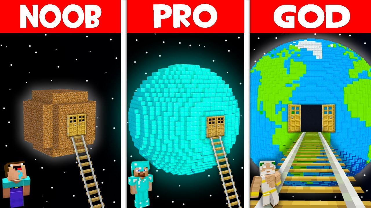 Minecraft NOOB vs PRO vs GOD: NOOB FOUND SECRET RAILS TO THE PLANET BASE! (Animation)