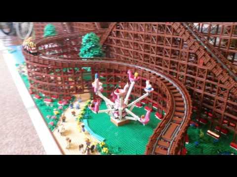 LEGO Wooden Roller Coaster pt2
