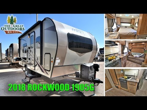 New 2018 ROCKWOOD 1905G Mini Lite Murphy Bed Travel Trailer RV Colorado Camper