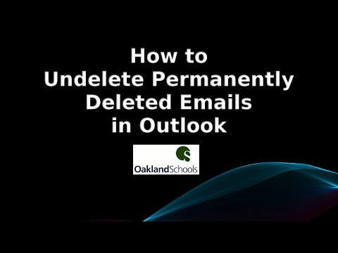How to Undelete a Permanently Deleted Email in Outlook