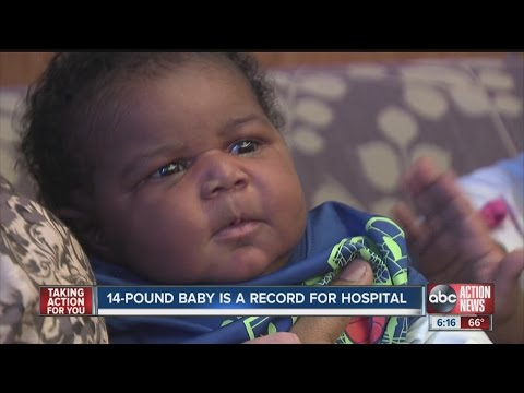 Hospital's biggest baby ever - 14 lbs.