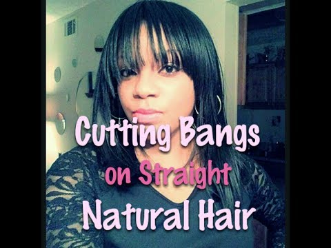 I Cut Bangs! On My Straight Natural Hair!