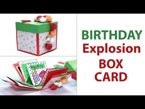 DIY 3D Birthday Explosion box Card, Unique Birthday Gift Idea