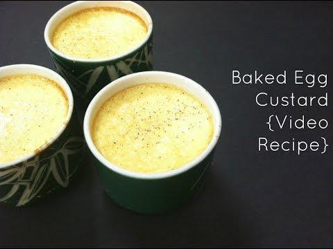 How to Make Baked Custard {Video Recipe}