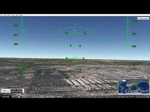 How to Land a Plane in Google Earth Flight Simulator? (720p HD)