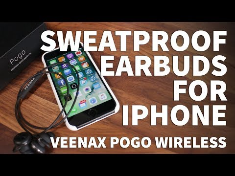 Sweatproof Earbuds for iPhone with Mic – Veenax Pogo Bluetooth Magnetic Sport Earbuds with Bass