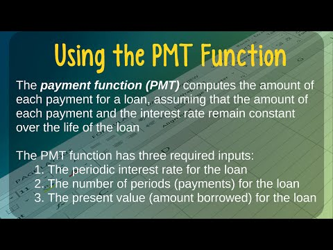 How to Calculate Loan Payments Using Excel's PMT Function