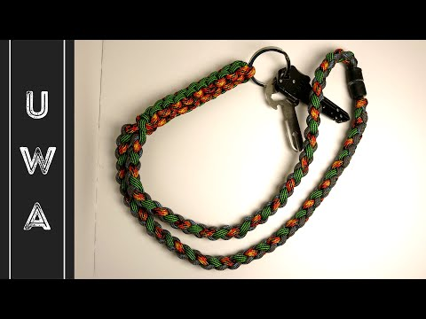 How to make a Paracord Lanyard - Crown Sinnet / Four Strand Round - [UWA ORIGINAL]