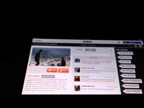 Demo of Zeebox iPad app Virgin Media TiVo