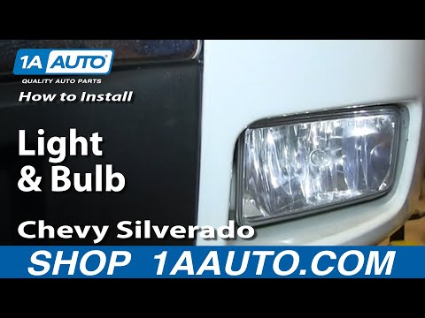 How To Install Replace Change Fog Light and Bulb 2007-13 Chevy Silverado