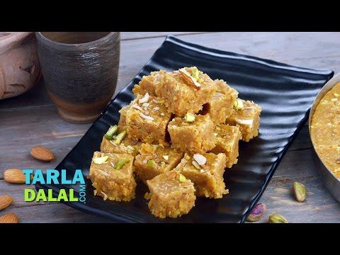 Mohanthal Recipe, Rajashtani & Gujarati Mithai by Tarla Dalal