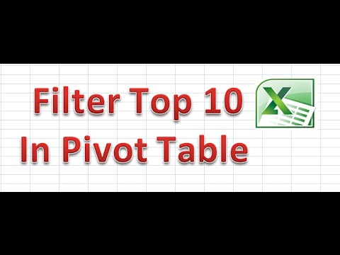 How to Filter Top 10 in Pivot Table