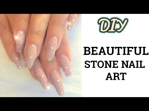 DIY| Stone Nail Art Step By Step| Easy Nail Art design|Latest and easy nail art at home|