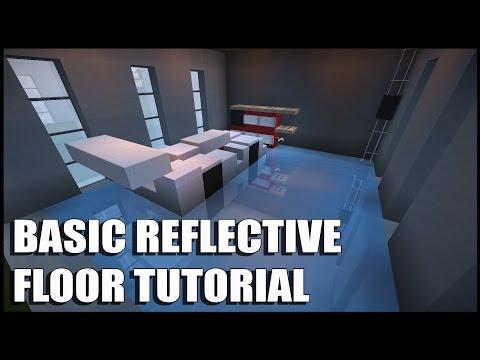 Minecraft Tutorial: Shiny Reflective Floor | Basic Reflective Floor Tutorial.